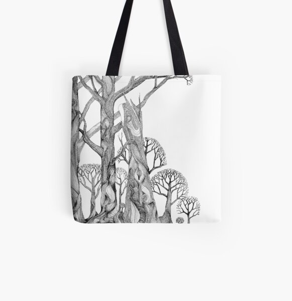 72Trees All Over Print Tote Bag