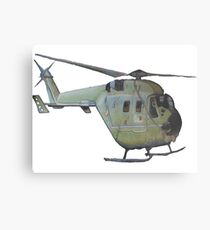 Helicopter Indian Air Force Naive Painting Metal Print