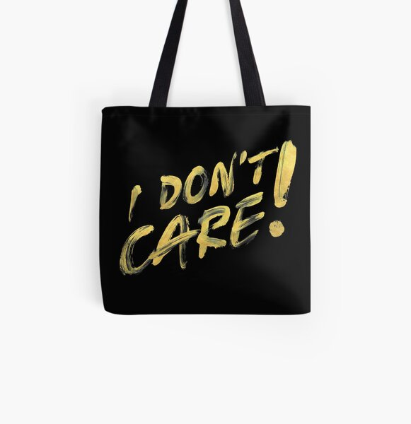 "bad day ""I DON'T CARE"" gold Allover-Print Tote Bag"