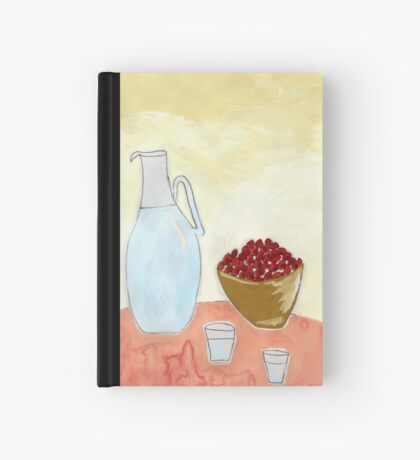 Jug and fruit. Hardcover Journal