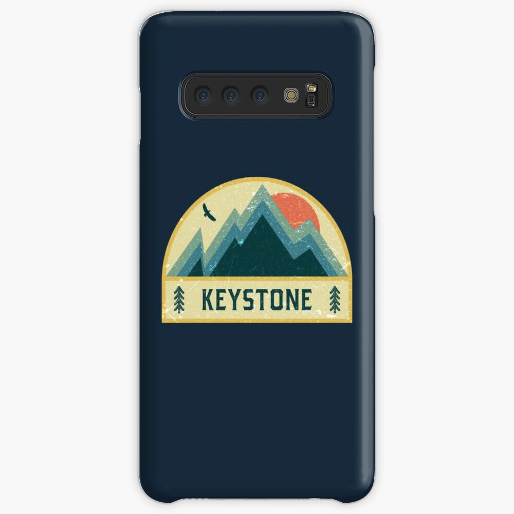 Keystone Retro Berg Abzeichen Hülle & Klebefolie für Samsung Galaxy