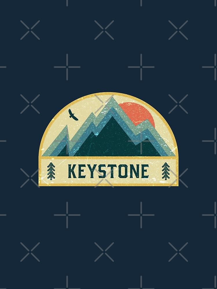 Keystone Retro Berg Abzeichen von dk80