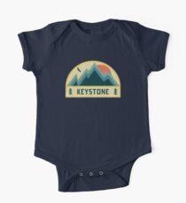 Keystone Retro Berg Abzeichen Baby Body Kurzarm