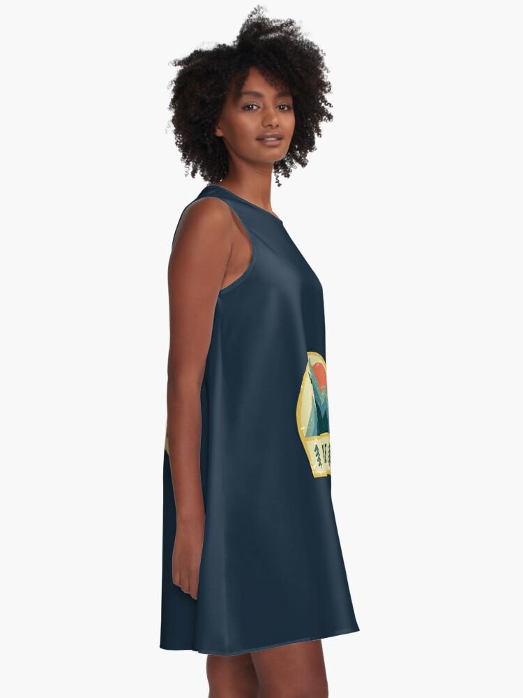 Alternative Ansicht von Keystone Retro Berg Abzeichen A-Linien Kleid