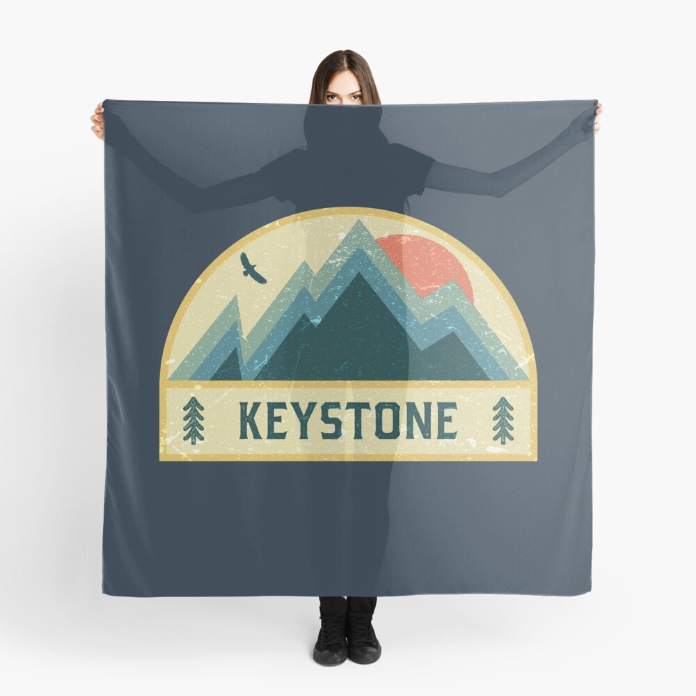 Keystone Retro Berg Abzeichen Tuch