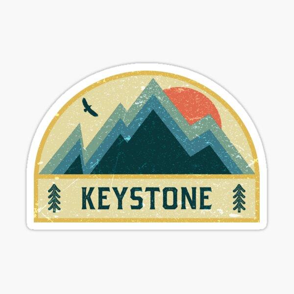 Keystone Retro Mountain Badge Sticker
