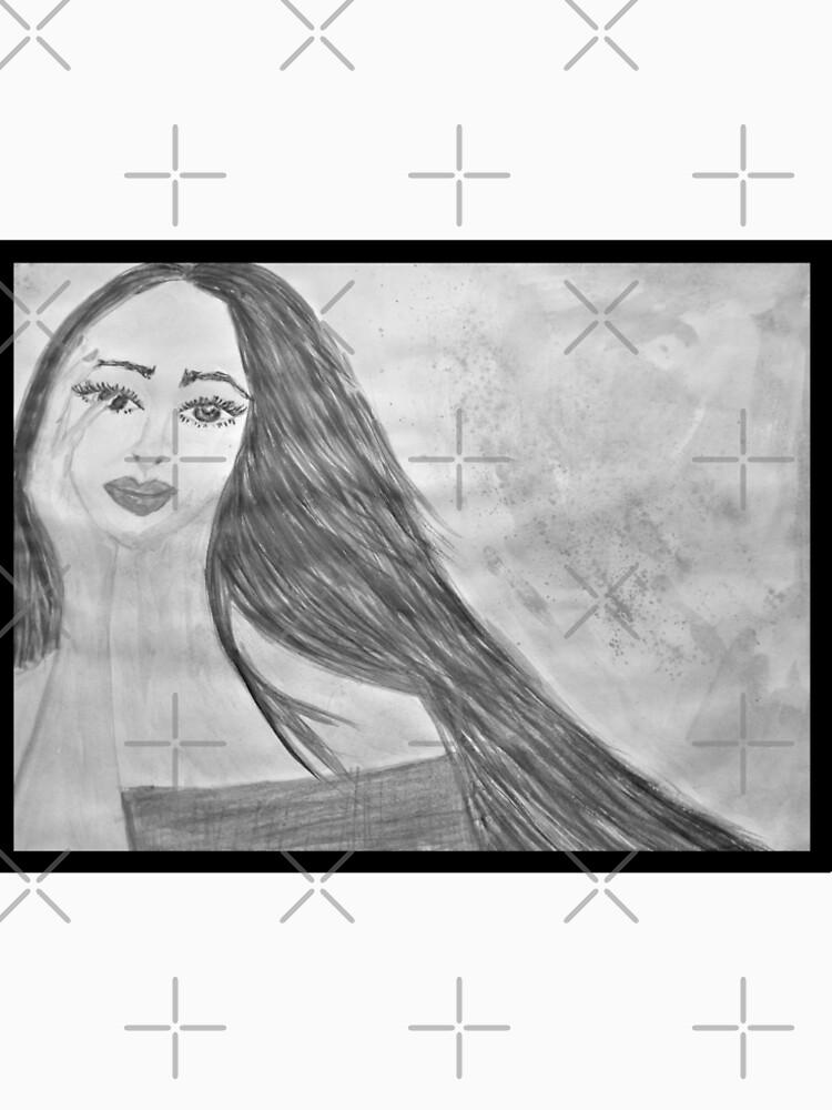 Black and White Watercolour Portrait by IvanaKada