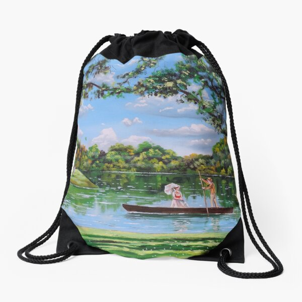 Mary Poppins in the park Drawstring Bag
