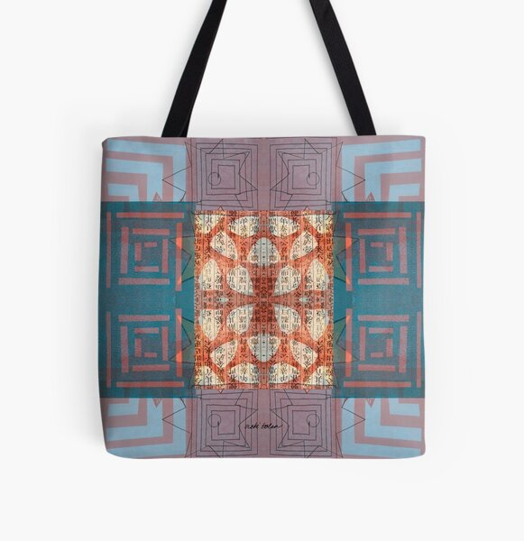 Star Smiling While Walking the Labyrinth All Over Print Tote Bag