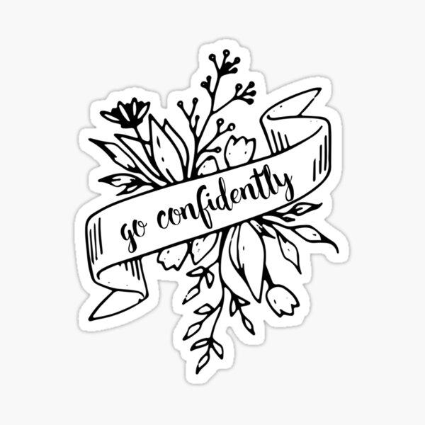 Go Confidently Sticker