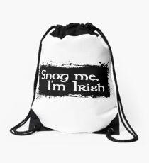 Snog Me, I'm Irish Drawstring Bag
