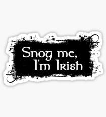 Snog Me, I'm Irish Sticker