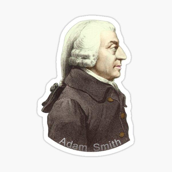 Scottish Economist Adam Smith Portrait Sticker