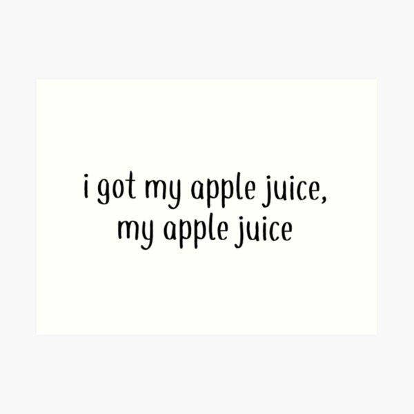 Apple Juice- Daniel Seavey wdw Art Print