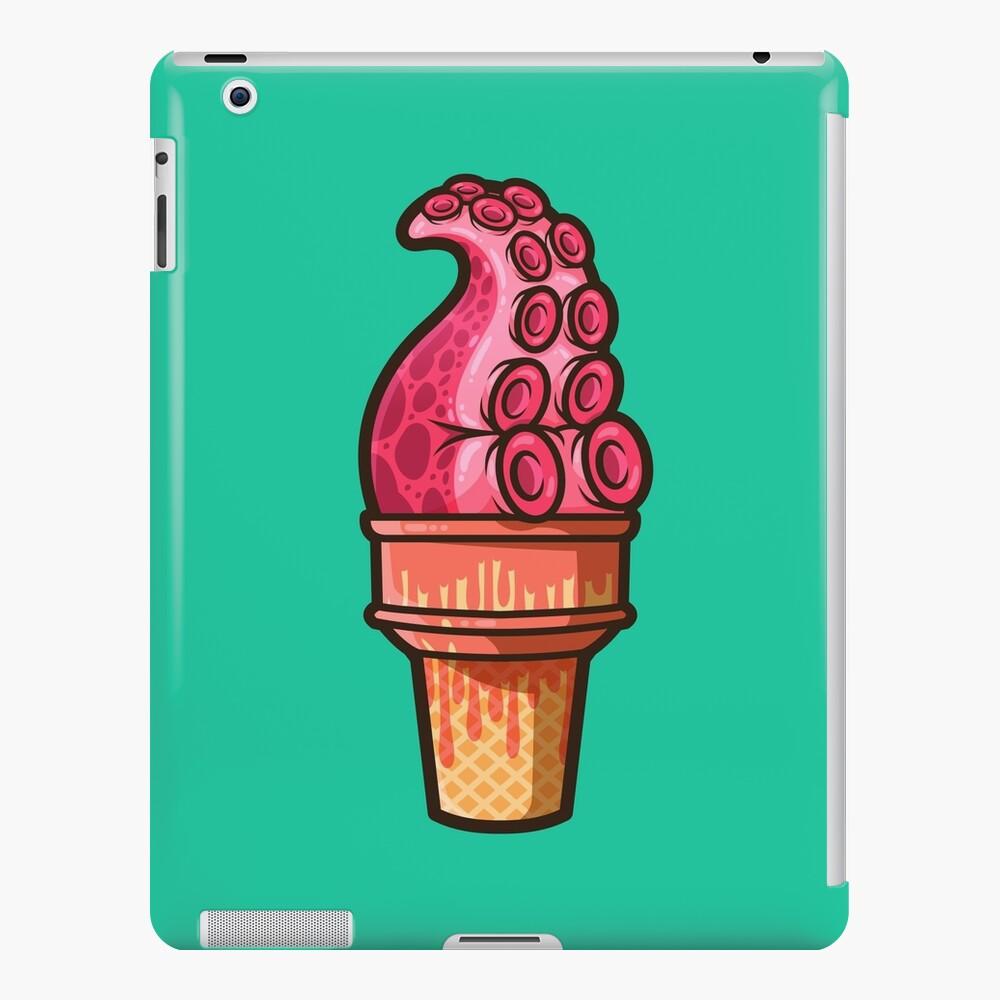 Tentacle Treat (tinta rosa) Funda y vinilo para iPad
