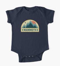 Mammut Retro Berg Abzeichen Baby Body Kurzarm