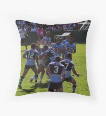 Dragons/Sharks tackle. Throw Pillow