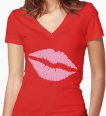 Pink Kiss Shirt mit V-Ausschnitt