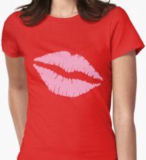 Pink Kiss Tailliertes T-Shirt für Frauen