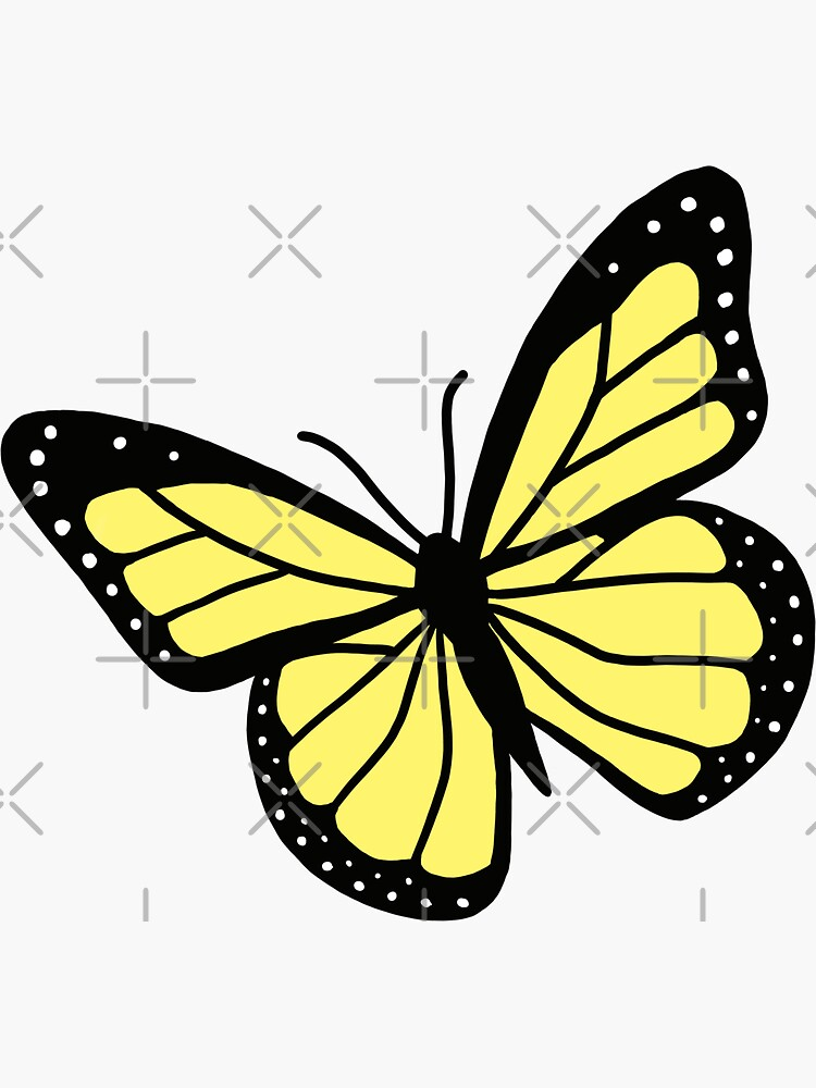 Yellow Butterfly by littlemandyart