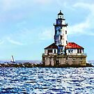 Chicago IL - Chicago Harbor Light by Susan Savad