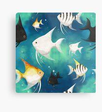 Angelfish Pattern Metal Print