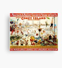 Jahrgang Coney Island Leinwanddruck