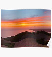 Nordkalifornien Sonnenuntergang Poster