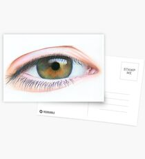 Step by Step Tutorial on drawing an Eye Postcards