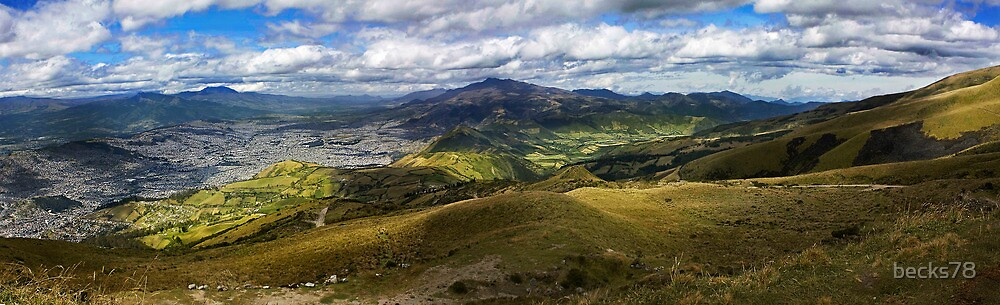 Andes and Quito's panoramic view by becks78