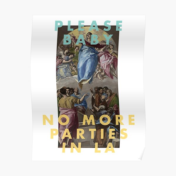 Kanye West - No More Parties in LA Poster
