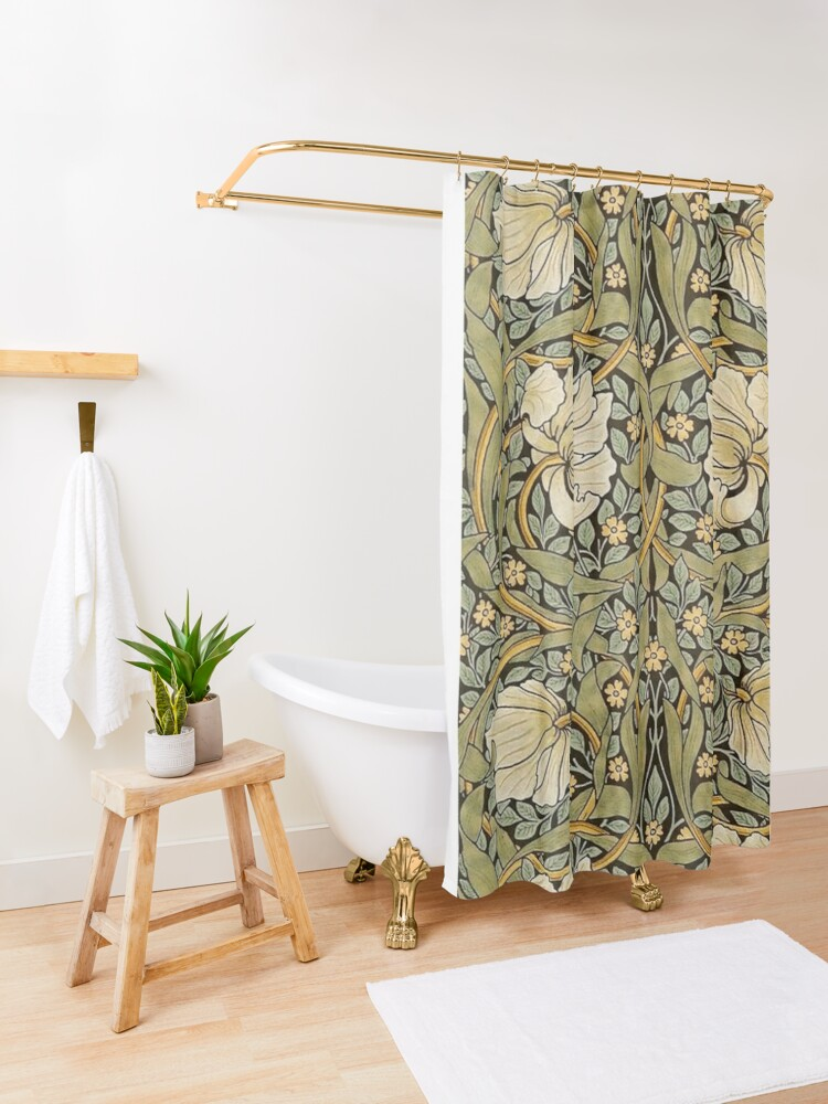 Alternate view of William Morris Pimpernel Shower Curtain