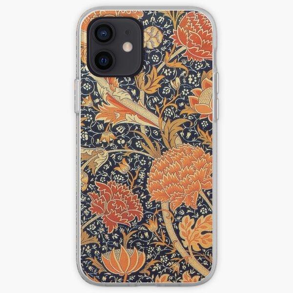 William Morris Orange Cray Art Floral Floral Coque souple iPhone