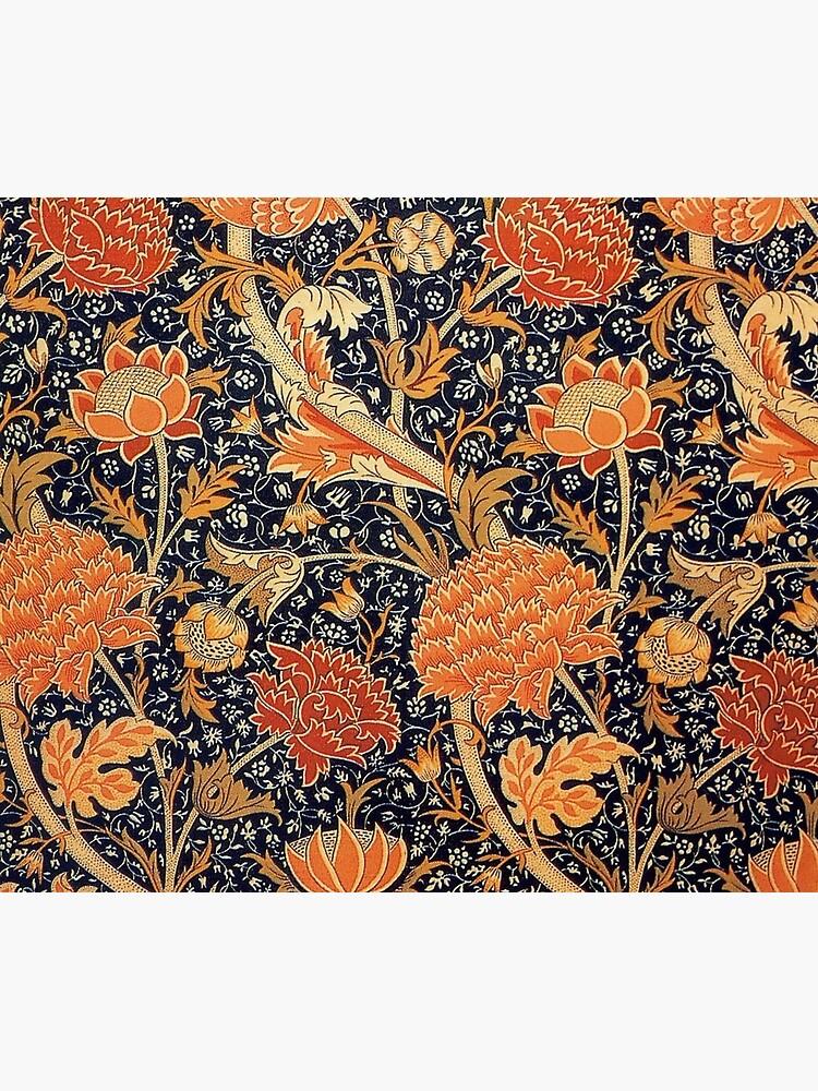 William Morris Orange Cray Floral Art Nouveau by historicalstuff