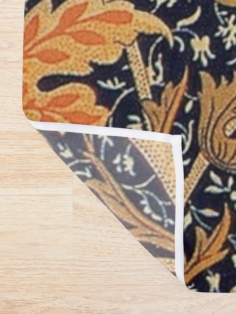 Alternate view of William Morris Orange Cray Floral Art Nouveau Shower Curtain
