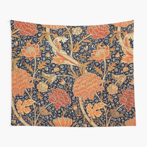 William Morris Orange Cray Floral Art Nouveau Tapestry