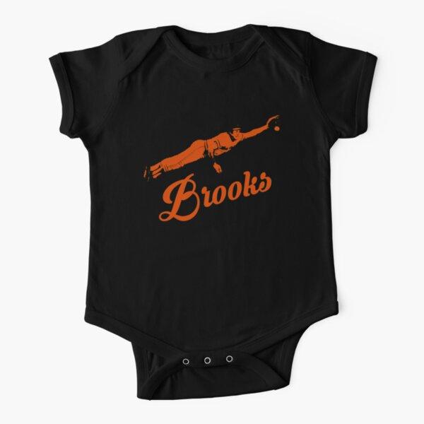 Baltimore Brooks - Orange Stencil Short Sleeve Baby One-Piece