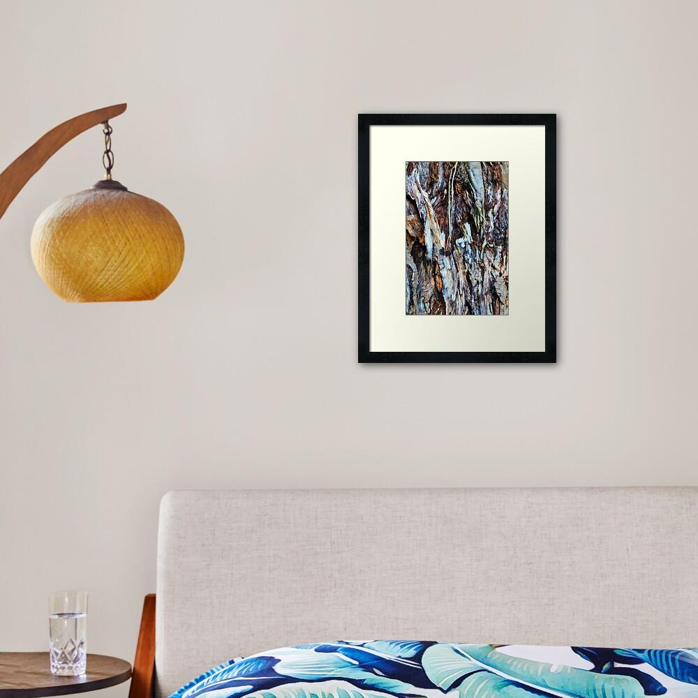 Decaying tree trunk Framed Art Print