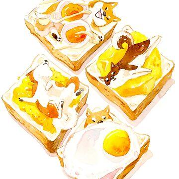 Shiba Inu Toasts von ploveprints