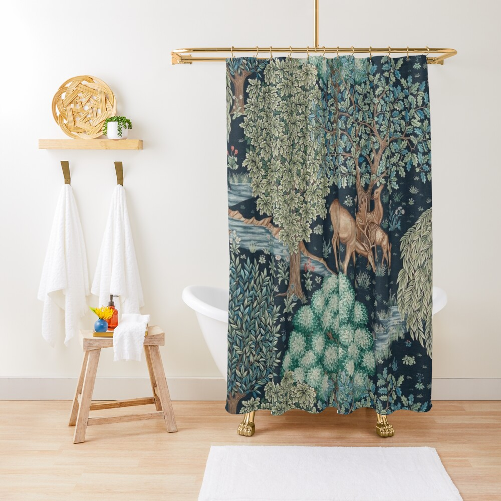 William Morris The Brook Shower Curtain