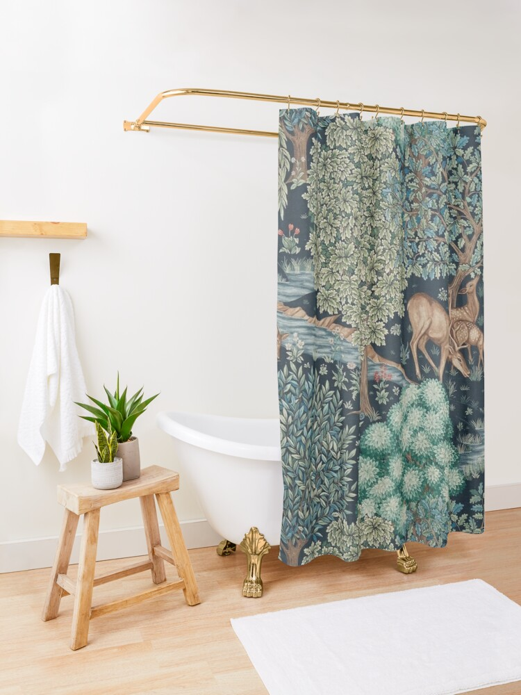 Alternate view of William Morris The Brook Shower Curtain