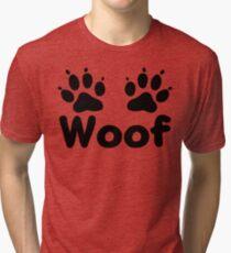 Woof Dog Paws Tri-blend T-Shirt