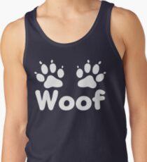 Camiseta de tirantes Patas de perro Woof (oscuro)