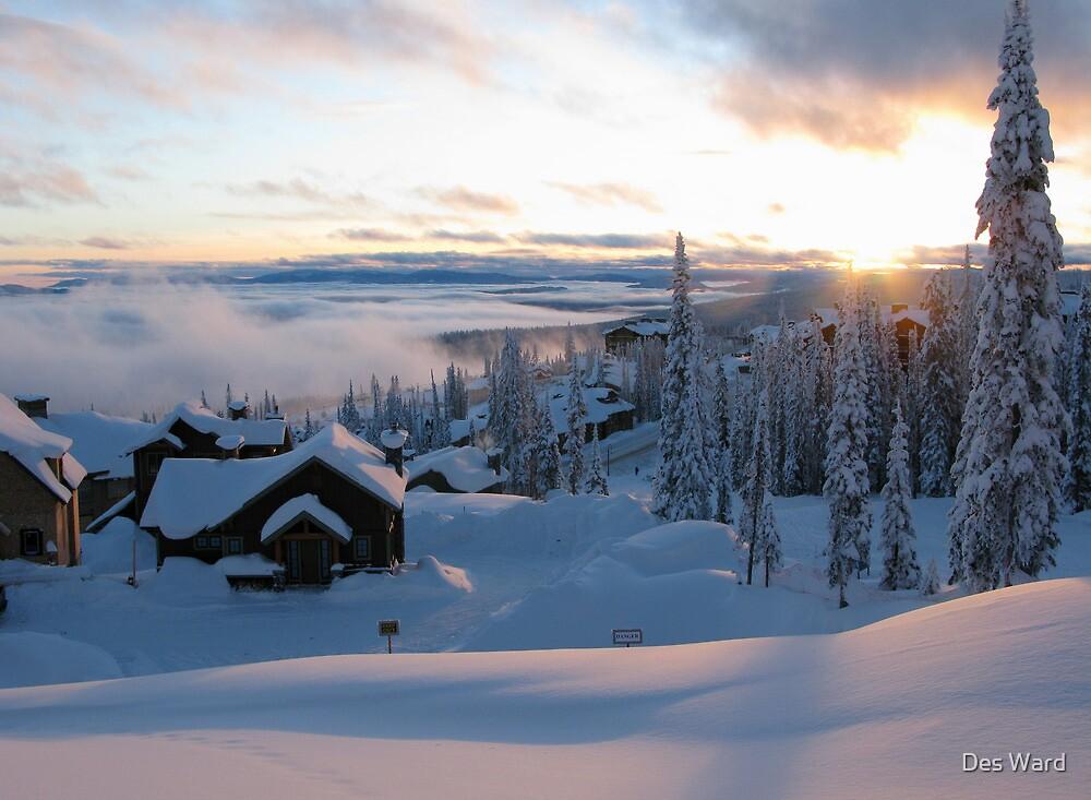 Alpine Sunset- Big White by Des Ward