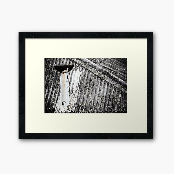Old Asbestos roof Framed Art Print