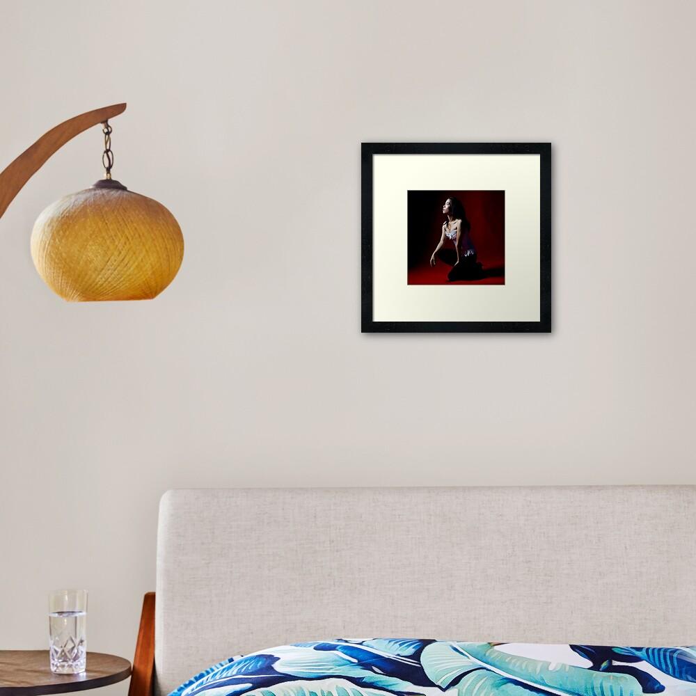 Red with light Framed Art Print
