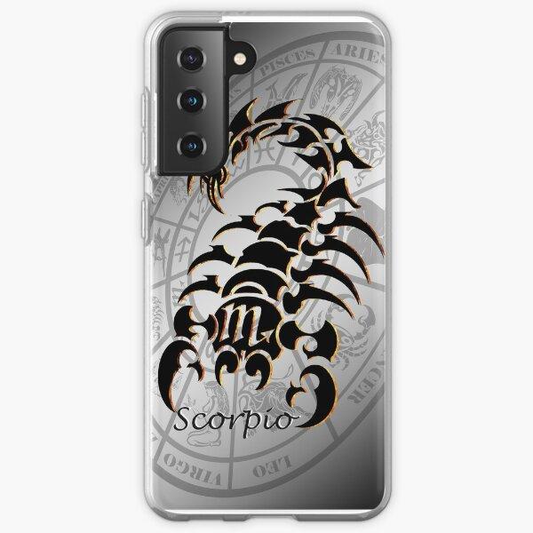 Scorpio Zodiac Sign - Shadow Style (Horoscope) Samsung Galaxy Soft Case