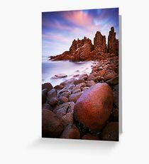 Low tide at the Pinnacles - Cape Woolamai Greeting Card