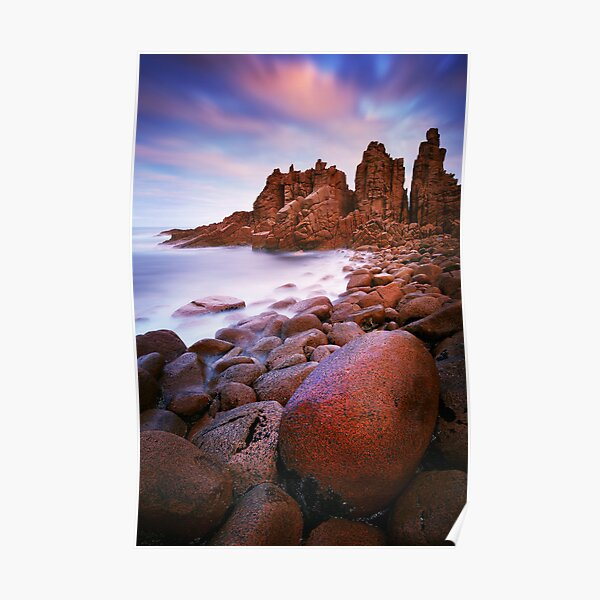 Low tide at the Pinnacles - Cape Woolamai Poster