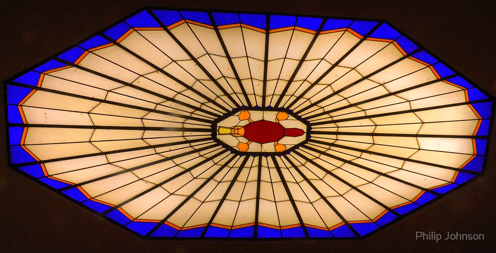 Art Deco Heaven - Foyer Stained Glass , National Film and Sound Archives Canberra, The HDR Experience by Philip Johnson